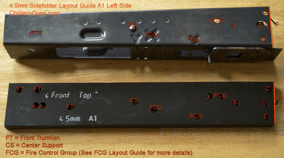 Receiver Layout Guide-4.5mm A1 Left Diagram